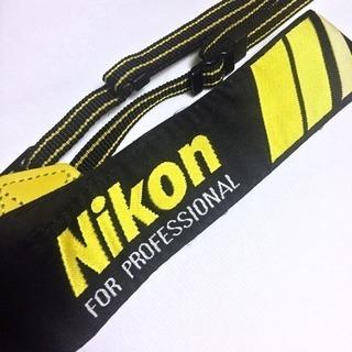 ニコン プロストラップ(黒黄)
