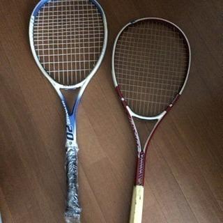 軟式テニスのラケット 2本 セット