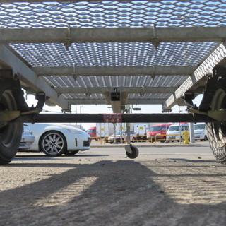 ソレックス 軽ナンバー ダンプトレーラー NF-E 荷台エキスパンドメタル仕様 オプション オートバイストッパー付 積載300kg 札幌発 - 札幌市