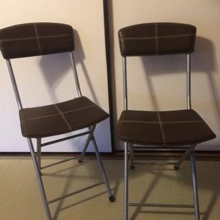 パイプ椅子二脚セット