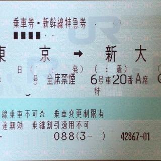 東海道新幹線【新幹線切符】 東京 ⇔新大阪 のぞみ 指定席 12...