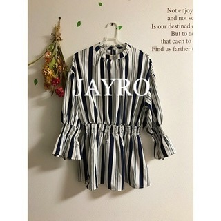 新品☆JAYRO☆ジャイロ  マルチストライプ スタンドカラーシャツ