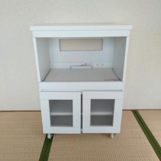 ロータイプレンジ台(食器棚 キッチ...