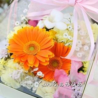 手作りギフトレッスン♥生花のフラワーボックス♥