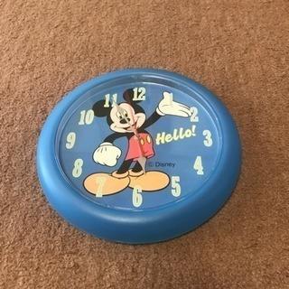 ミッキーマウスの掛け時計
