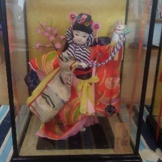 値下げしました☆3点セット☆お雛様と一緒に飾るお人形(春駒と八重...