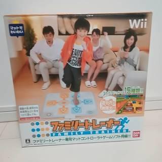 【値下げ】wiiファミリートレーナー (ソフト+専用マット)