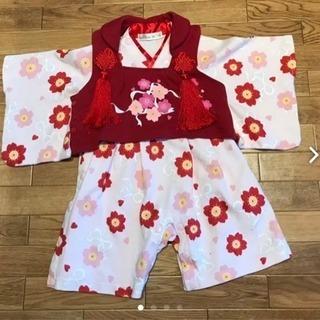 袴ロンパース  被布付き