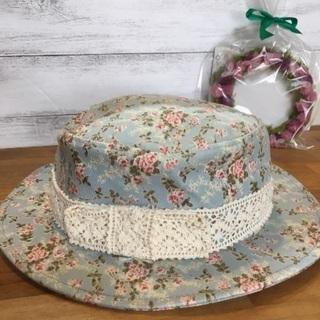 新品タグ付き✴︎花柄カンカン帽