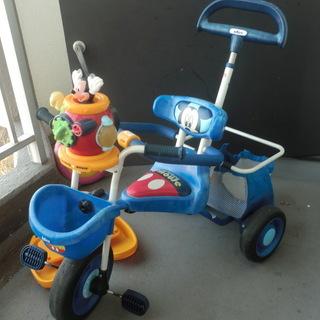 【交渉中】ミッキーのポップンカーゴ三輪車 説明書付き