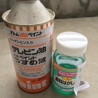 DIYの友、うすめ液と塗料はがし液をセットで格安で