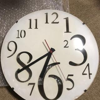 壁掛け時計 ニトリで購入 ホワイト ガラス 32CM