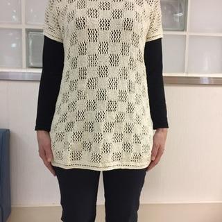 夏に手編みのサマーセーターいかがですか?