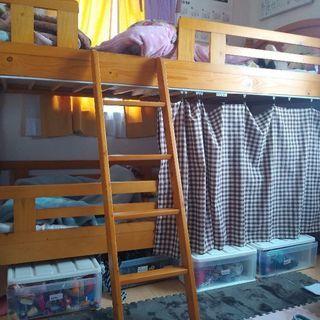 二段ベッド☆カーテン付き