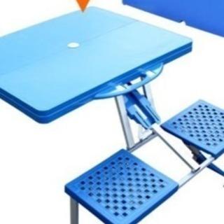 アウトドア用テーブルと椅子の一体型