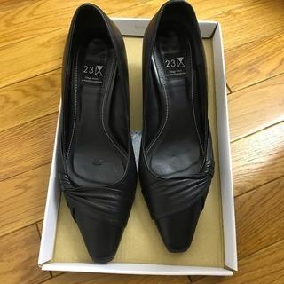 【23区】黒パンプス革 22cm