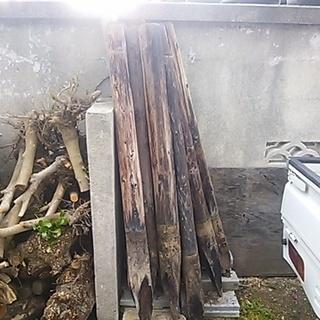 木の杭あげます