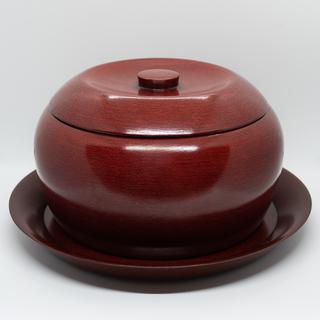 【希少・未使用】香川漆器 後藤塗 お櫃(お盆としゃもじ付き)