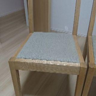 無印良品 椅子 オーク材 無垢 二脚セット