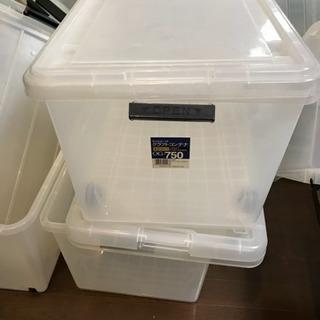 大容量 クリアボックス(キャスター付)×5個