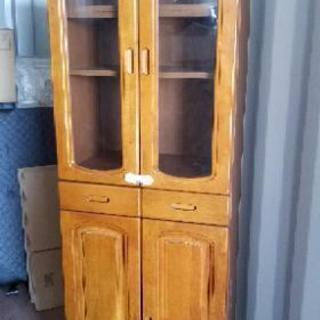食器棚 木目調