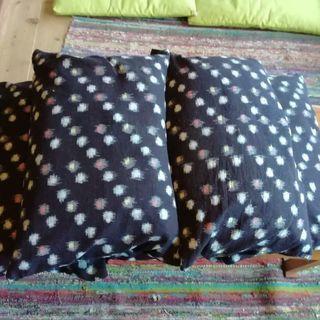 蕎麦殻枕×5個 ソバガラマクラ カスリ 和テイスト 枕カバー付