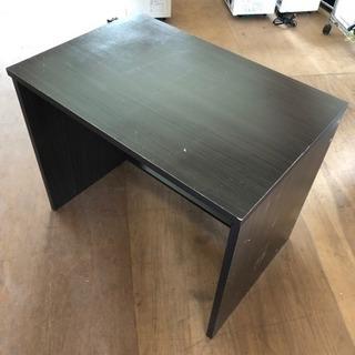 【在庫処分特価】 シンプルパソコンデスク 木目調 ブラウン 幅88cm