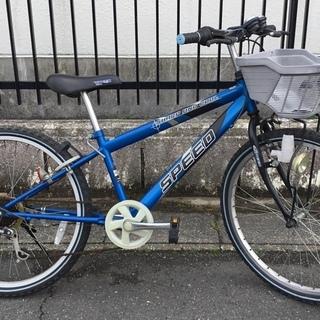 ■24インチ・ジュニア自転車 外装6段変速 色・ブルー