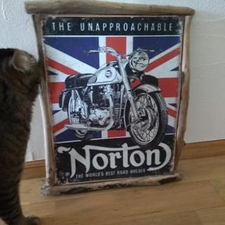 Norton ガーデニング、インテリア バイクの絵 流木
