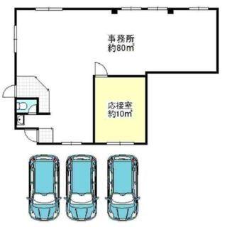 ★駐車スペース3台 1階路面約90㎡★貸店舗・事務所  なかもず駅...