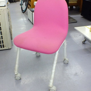 OAチェア 椅子 イス ピンク キャスター付き 札幌市手稲区前田