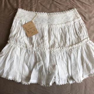 【新品】me&me couture 白スカート