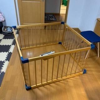 木製アレンジサークル WOODY 4枚組 日本育児 ベビーサークル