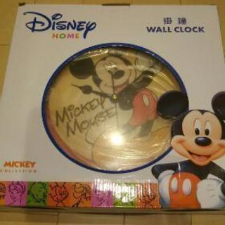 ミッキーマウス掛け時計新品