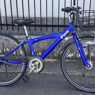 ■26インチ・ジュニア自転車  外装6段変速  色・ブルー 鍵付き