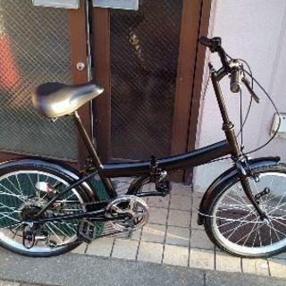 20吋 折り畳み自転車 外装6段変速/ブラック