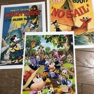 ディズニー ミッキ プーさん アナ雪 ポスター 絵 印刷画