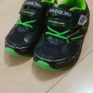[室内で数度使用のみ・記名あり]靴・瞬足・15cm