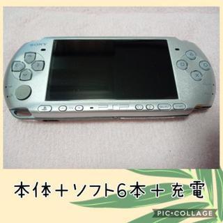 PSP 本体とソフト6本+充電器 中身バッテリー無し