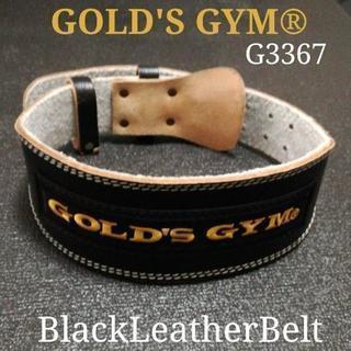 ゴールドジム ブラックレザーベルト G3367 ベンチプレス ボ...