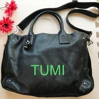 TUMI レザービジネスバッグ
