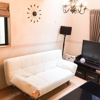 ジャンク品 ¥30000 購入 レザーソファー