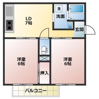2台無料、ネット無料の2DK、この家賃ではかなり設備充実してます!