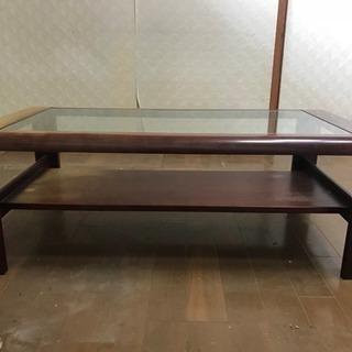 ローテーブル ガラステーブル 無料で差し上げます!