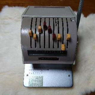 アンティーク雑貨 小切手印字機