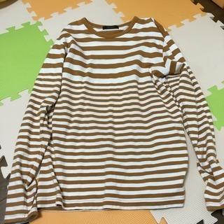 RAGEBLUE 長袖Tシャツ L ボーダー 茶×白
