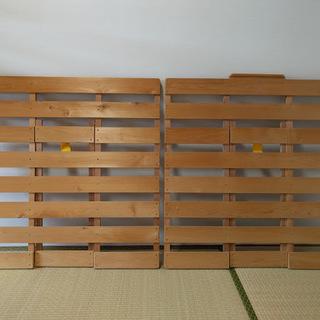 すのこベッド シングル ひのき 国産 布団干し機能付き