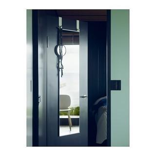 新品 IKEA GARNES ドア掛けミラー