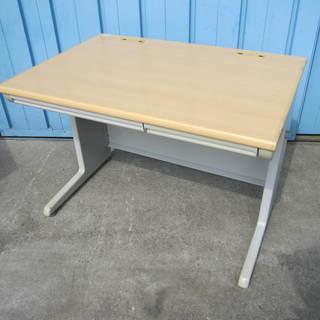 事務机 平デスク 木目 オカムラ製 W1000mm オフィス テーブル