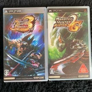 PSP ゲームソフト モンハン2・3 セット